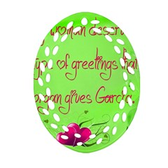 Garcia s Greetings Ornament (oval Filigree)