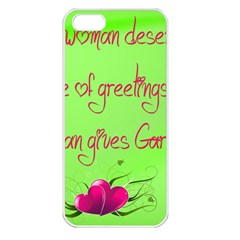 Garcia s Greetings Apple iPhone 5 Seamless Case (White)