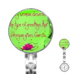 Garcia s Greetings Stainless Steel Nurses Watches