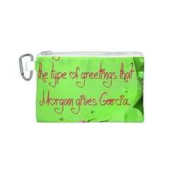 Garcia s Greetings Canvas Cosmetic Bag (s)