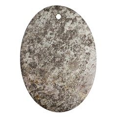 WEATHERED GREY STONE Ornament (Oval)