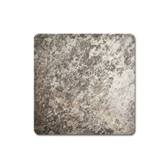 WEATHERED GREY STONE Square Magnet