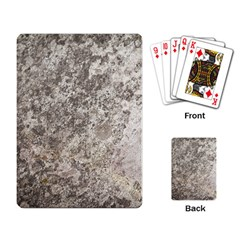 WEATHERED GREY STONE Playing Card
