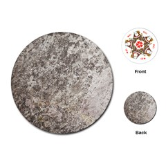 Weathered Grey Stone Playing Cards (round)