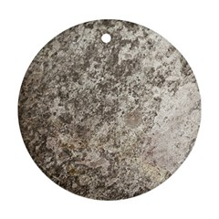 WEATHERED GREY STONE Round Ornament (Two Sides)