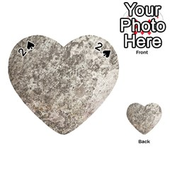 WEATHERED GREY STONE Playing Cards 54 (Heart)