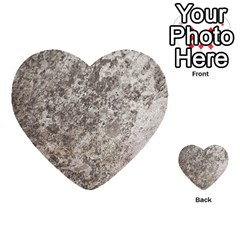 WEATHERED GREY STONE Multi-purpose Cards (Heart)