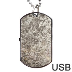 WEATHERED GREY STONE Dog Tag USB Flash (One Side)
