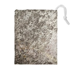 WEATHERED GREY STONE Drawstring Pouches (Extra Large)