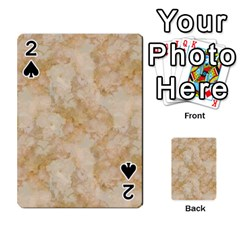 Tan Marble Playing Cards 54 Designs
