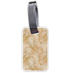 TAN MARBLE Luggage Tags (Two Sides)