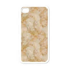 TAN MARBLE Apple iPhone 4 Case (White)