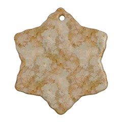 Tan Marble Snowflake Ornament (2 Side)