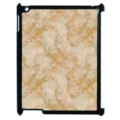 TAN MARBLE Apple iPad 2 Case (Black)