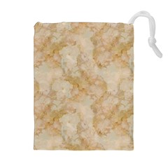TAN MARBLE Drawstring Pouches (Extra Large)