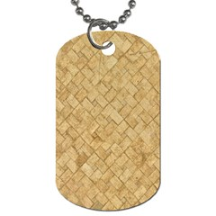 TAN DIAMOND BRICK Dog Tag (One Side)