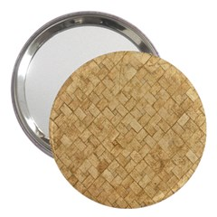 Tan Diamond Brick 3  Handbag Mirrors
