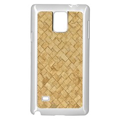 TAN DIAMOND BRICK Samsung Galaxy Note 4 Case (White)