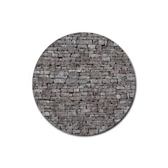 STONE WALL GREY Rubber Coaster (Round)