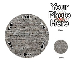 Stone Wall Grey Playing Cards 54 (round)