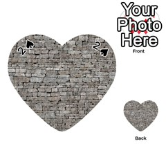 Stone Wall Grey Playing Cards 54 (heart)