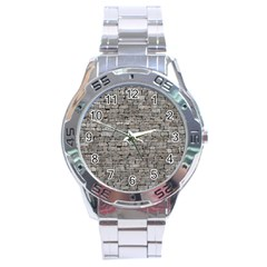 STONE WALL GREY Stainless Steel Men s Watch