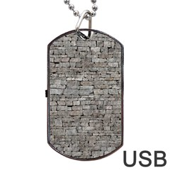 STONE WALL GREY Dog Tag USB Flash (One Side)