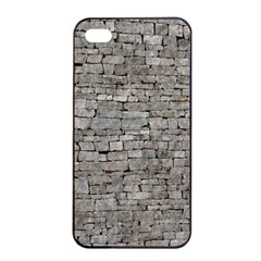 STONE WALL GREY Apple iPhone 4/4s Seamless Case (Black)