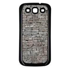 STONE WALL GREY Samsung Galaxy S3 Back Case (Black)