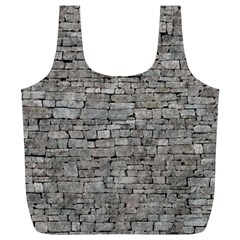 STONE WALL GREY Full Print Recycle Bags (L)