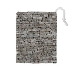 STONE WALL GREY Drawstring Pouches (Large)