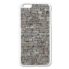 STONE WALL GREY Apple iPhone 6 Plus/6S Plus Enamel White Case
