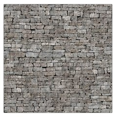 STONE WALL GREY Large Satin Scarf (Square)