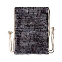 STONE WALL GREY Drawstring Bag (Small)