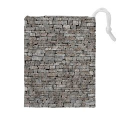 STONE WALL GREY Drawstring Pouches (Extra Large)