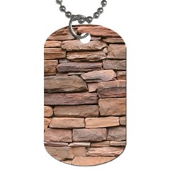 STONE WALL BROWN Dog Tag (One Side)