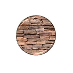 STONE WALL BROWN Hat Clip Ball Marker (10 pack)