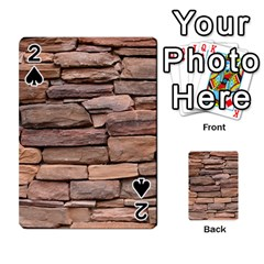 Stone Wall Brown Playing Cards 54 Designs