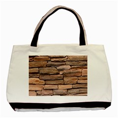 STONE WALL BROWN Basic Tote Bag