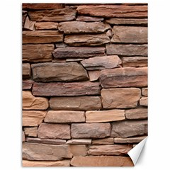 STONE WALL BROWN Canvas 12  x 16