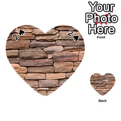 Stone Wall Brown Playing Cards 54 (heart)