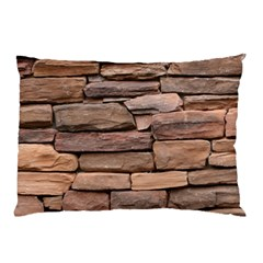 STONE WALL BROWN Pillow Cases