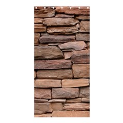 STONE WALL BROWN Shower Curtain 36  x 72  (Stall)