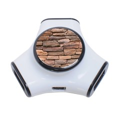 STONE WALL BROWN 3-Port USB Hub
