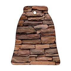 Stone Wall Brown Bell Ornament (2 Sides)