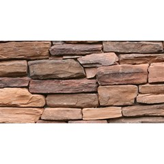 Stone Wall Brown You Are Invited 3d Greeting Card (8x4)