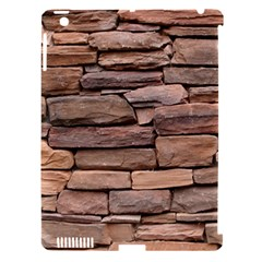 STONE WALL BROWN Apple iPad 3/4 Hardshell Case (Compatible with Smart Cover)