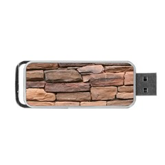 Stone Wall Brown Portable Usb Flash (two Sides)
