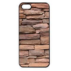 STONE WALL BROWN Apple iPhone 5 Seamless Case (Black)