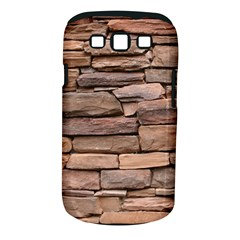 STONE WALL BROWN Samsung Galaxy S III Classic Hardshell Case (PC+Silicone)